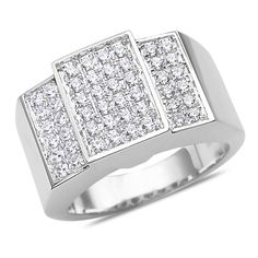 Ebay NissoniJewelry presents - Men's 1CT Diamond Fashion Ring 10k White Gold with Cage Back    Model Number:GR9460K-W077    http://www.ebay.com/itm/Men-s-1CT-Diamond-Fashion-Ring-10k-White-Gold-with-Cage-Back/321612133429