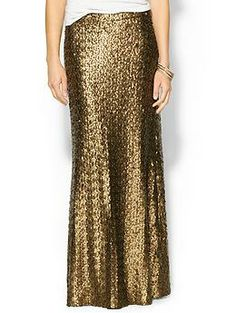 Sabine Sequin Maxi Skirt   Piperlime