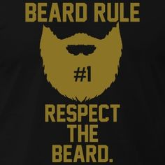 Beard Rules T-Shirts - Men's T-Shirt by American Apparel