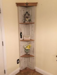 nice Custom Old door corner accent shelf , book case , Country home decor www.etsy.... by www.danaz-homedec...