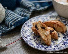 Hazelnut, Sour Cherry & Orange Biscotti | Urban Cottage Life Urban Cottage, Sour Cherry, Coffee Break, Biscotti, French Toast, Cookies, Orange, Baking, Eat