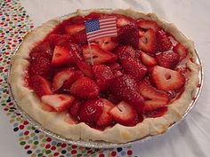This is the strawberry pie I made myself for my Plenty-9th birthday last year.  #pie