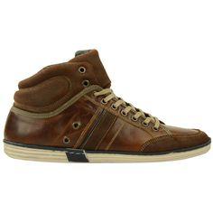 Hoge bruine herensneakers