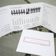 wedding program - Bridal Party // love the design
