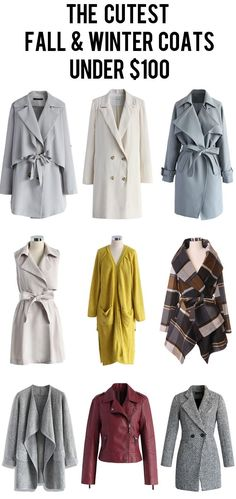 the cutest fall and winter women coats under $100