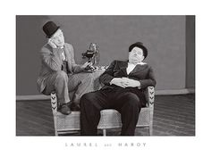 Laurel and Hardy Fine Art Print Poster