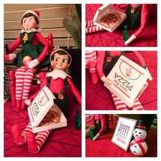 DAY 9: Elf on the Shelf North Pole Pizza Party #ElfOnTheShelf #amywelsh18
