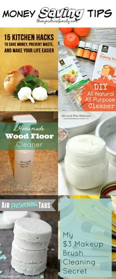 Money Saving Tips Money Saving Tips collected by The NY Melrose Family Money Saving Tips, Saving Money Best Money Saving Tips, Money Tips, Saving Money, Money Hacks, Money Savers, Diy Cleaning Products, Cleaning Hacks, Homemade Wood Floor Cleaner, Life Hacks