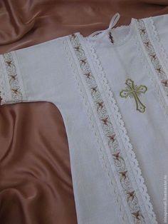 """Крестильные принадлежности ручной работы. Ярмарка Мастеров - ручная работа. Купить Крестильная   рубашка""""БЛАГОСТЬ"""". Handmade. Белый, крестильная рубашка, на крестины"""