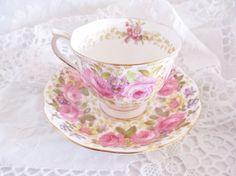 Vintage Royal Albert Serena teacup and saucer set