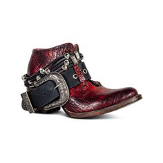 Saloon in Red Croco Ankle Booties, Bootie Boots, Shoe Boots, Cute Shoes, Me Too Shoes, Red Cowboy Boots, Leather Buckle, Shoe Closet, Casual Boots