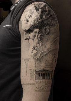 Head Tattoos, Badass Tattoos, Mini Tattoos, Body Art Tattoos, Tattoo Drawings, Small Tattoos, Tattoos For Guys, Modern Tattoos, Unique Tattoos
