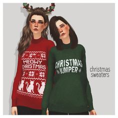 Pure Sims: Christmas sweater • Sims 4 Downloads