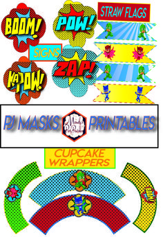 Free PJ Masks Party Printables