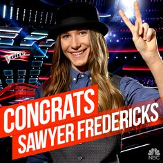 May 19, 2015 Winner of The Voice! Sawyer Fredericks