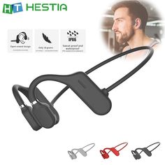 Buy Bone Conduction Headphones Bluetooth Wireless Waterproof Comfortable Wear Open Ear Hook Light Weight Not In-ear Sports Earphones at Wholesale Price. Free or Lowcost Worldwide Shipping. And large of options in our best Portable Audio & Video category with cheapest price on Pricetug.com Bluetooth Headphones, Wireless Headphones, Headphones Online, Intensives Training, Sports Headphones, Running Headphones, Intense Workout, Noise Cancelling, Samsung Galaxy