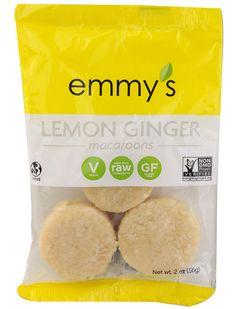 Emmy's Organics Macaroons Lemon Ginger