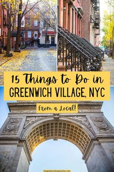 Planning what to do in Greenwich Village NYC? Use this guide, written by a local, with tips about favorite restaurants, shops, where to have brunch, eat NYC pizza, see neighborhood favorites like the Friends or Carrie Bradshaw Apartments, as well as what to do at night in the Village. Best Travel Websites, Nyc Hotels, Us Travel Destinations, New York City Travel, Greenwich Village, Ultimate Travel, Solo Travel, Travel Around The World, Where To Go