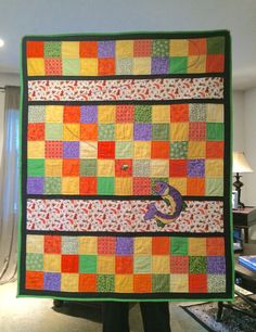 """Fly Fishing Quilt for """"Baby"""" Smith-July, 2016"""