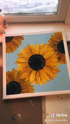 Easy Canvas Art, Simple Canvas Paintings, Small Canvas Art, Mini Canvas Art, Canvas Painting Tutorials, Canvas Painting Designs, Painting Videos, Art Painting Gallery, Ideias Diy