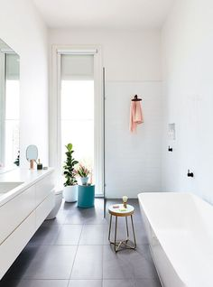 an open and airy bathroom