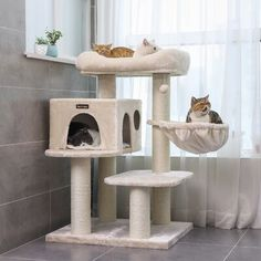 32 Cozy Cat Tree Design Ideas For Your Furry Friend - If you've ever observed an undomesticated cat, you will realize that this member of the feline family prizes her freedom. Cats love to climb, hide, ex. Cool Cat Trees, Cool Cats, Cat Tree Designs, Diy Cat Tower, Cat Tree Plans, Cat Scratcher, Cat Condo, Cat Supplies, Pet Furniture