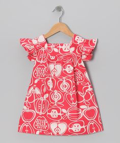 Love this Rouge Red Orchard Dress - Infant, Toddler & Girls by Sprockets on #zulily! #zulilyfinds