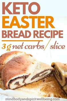 Looking for healthy keto Easter treats for you and your family? If you wish to make a tasty and easy sugar free dessert for your Easter celebration, this yummy low carb sweet bread is for you! This is one of my most favorite sugar free desserts for diabetics and those following any weight management programs. Prepare this sweet braided Easter bread and treat yourself without falling off the diet wagon and maintain your weight loss progress during the holidays! #Easter #ketobread #ketodesserts