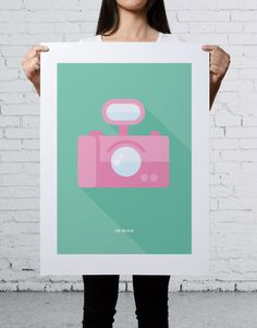 IMIMAH Broadwalk Daydream Print 18×24″. $48 + P&P.   Our delightful pastel ice cream print is available at: IMIMAH.co/prints   #camera #popart #interiordesign #homewear #decor #prints #print #poster #wallart #kawaii #cute #bright #colourful #holiday Print Poster, Daydream, Pop Art, Ice Cream, Pastel, Kawaii, Bright, Wall Art, Interior Design