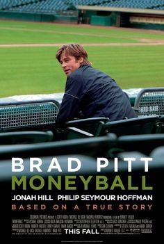 Moneyball, starring Brad Pitt, Robin Wright, and Jonah Hill. Oakland As general manager Billy Beanes successful attempt to put together a baseball club on a budget by employing computer-generated analysis to acquire new players. Jonah Hill, See Movie, Movie Tv, George Clooney, Drama, Movies Showing, Movies And Tv Shows, Oscar 2012, Math Movies