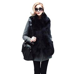 Etosell Women Faux Fox Fur Shaggy Wai…
