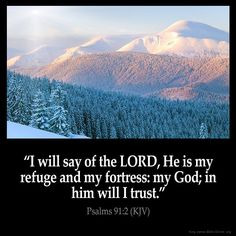 "✝✡Trust in the LORD  with all thine Heart✡✝ ( Psalms 91:2 KJV ) ""I will say of the LORD, He is my refuge and my fortress: my God; in Him will I trust.""!! ( Proverbs 3:5-6 KJV ) ""Trust in the LORD w..."