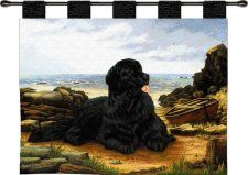 Newfoundland Dog Art Tapestry Throw Made in USA for sale online Weaving Art, Tapestry Weaving, Tapestry Wall Hanging, Boho Tapestry, Globe Art, We Are The World, Dog Art, Dogs And Puppies, Pure Products
