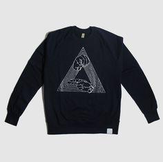 Millionhands - Triangle Logo Navy Sweatshirt