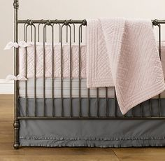grey and pink crib sets | ... purchased this Bedding Set (w/o the Bumper) and this Mobile. TIA