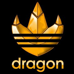"""Power Rangers T-Shirt by Carlos Donoso aka Inkone. """"dragon"""" is a parody of the Adidas logo for fans of the Mighty Morphin Power Rangers."""