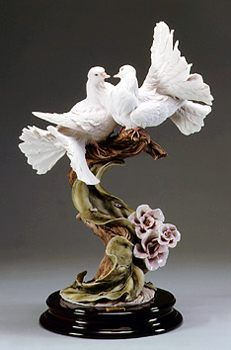 Two Doves with Flowers | Florence Collections
