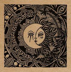 Shop Tribal Sky Tarot Cloth Bandana created by ArtMagic. Sun Tattoos, Tattos, Sun Moon Stars, Moon Design, Logo Inspiration, Bandana, Vibrant Colors, Illustration, Artwork