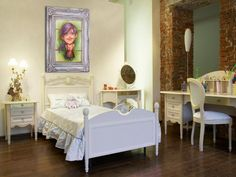 Dekoracje na ścianę do pokoju dziecka. Uroczy obrazek z ramką do pokoju dziewczynki - nie tylko dla Małgosi :)