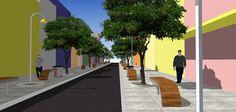 Projeto de Revitalização para a Rua Dr. Bozano - centro de Santa Maria - RS.