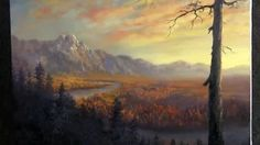 Paint with Kevin Hill - Palette Knife Only Landscape Painting KevinOilPainting KevinOilPainting - YouTube
