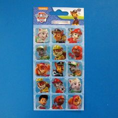 Paw Patrol Foil Re-useable stickers. 80p each.  https://littlepartyparcels.co.uk/shop/paw-patrol-foil-…useable-stickers/