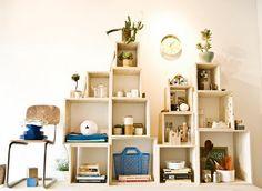 diy shelves What To Do Outside, Outside Lands, Shop Interior Design, Store Design, Display Shelves, Diy Shelving, Display Boxes, Display Ideas, General Store