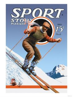 Vintage ski posters , Canvas Art and Posters at Art.com