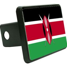 Kenya Flag Trailer Hitch Cover