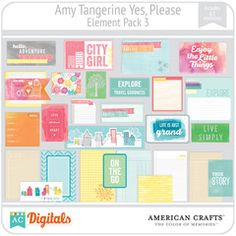 Amy Tangerine Yes, Please Element Pack #3