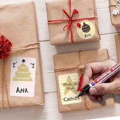 Pegatinas: Kit etiquetas Nieve Kit, Merry Xmas, Happy Holidays, Gift Wrapping, Goal, Ideas, Christmas Window Display, Pina Colada, Snowflakes