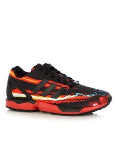 Speciale adidas Sneaker ZX FLUX Lightning (Rood) Sneakers van het merk adidas voor Heren . Uitgevoerd in Rood gemaakt van Diverse materialen.
