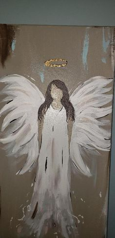 Fall Canvas Painting, Canvas Art, Painting Abstract, Angel Artwork, Angel Paintings, Heaven Painting, Angel Drawing, Angel Crafts, Angel Pictures