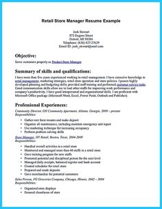 Assistant Store Manager Resume Resume  Bad Resume  Pinterest  My Resume Examples And Resume